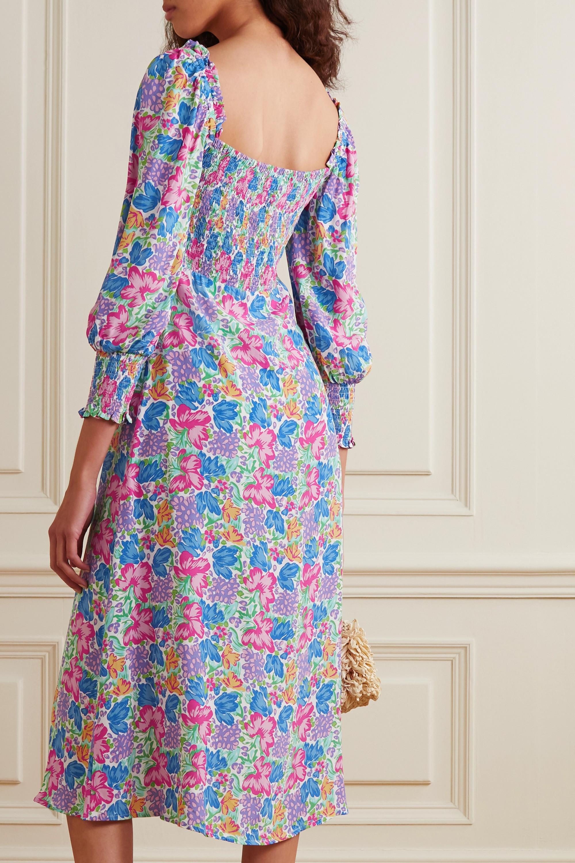 Faithfull The Brand + NET SUSTAIN Mathilde shirred floral-print crepe midi dress