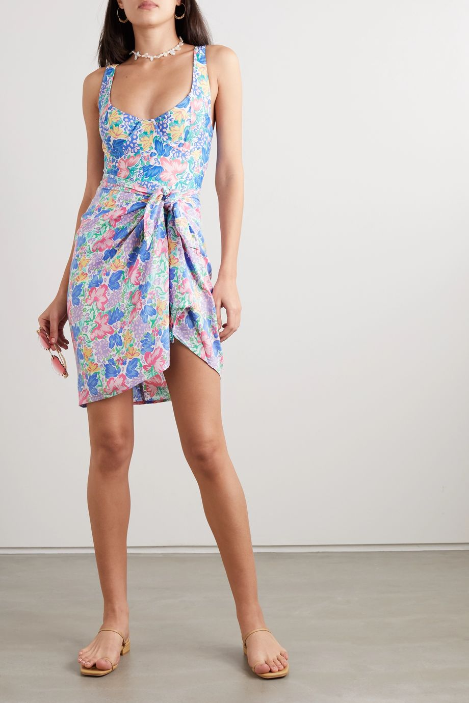 Faithfull The Brand + NET SUSTAIN floral-print voile pareo