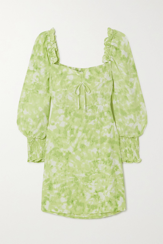 Faithfull The Brand + NET SUSTAIN Arianne ruffled tie-dyed crepe mini dress