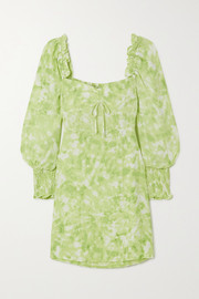Faithfull The Brand + NET SUSTAIN Arianne ruffled tie-dyed crepe mini dress