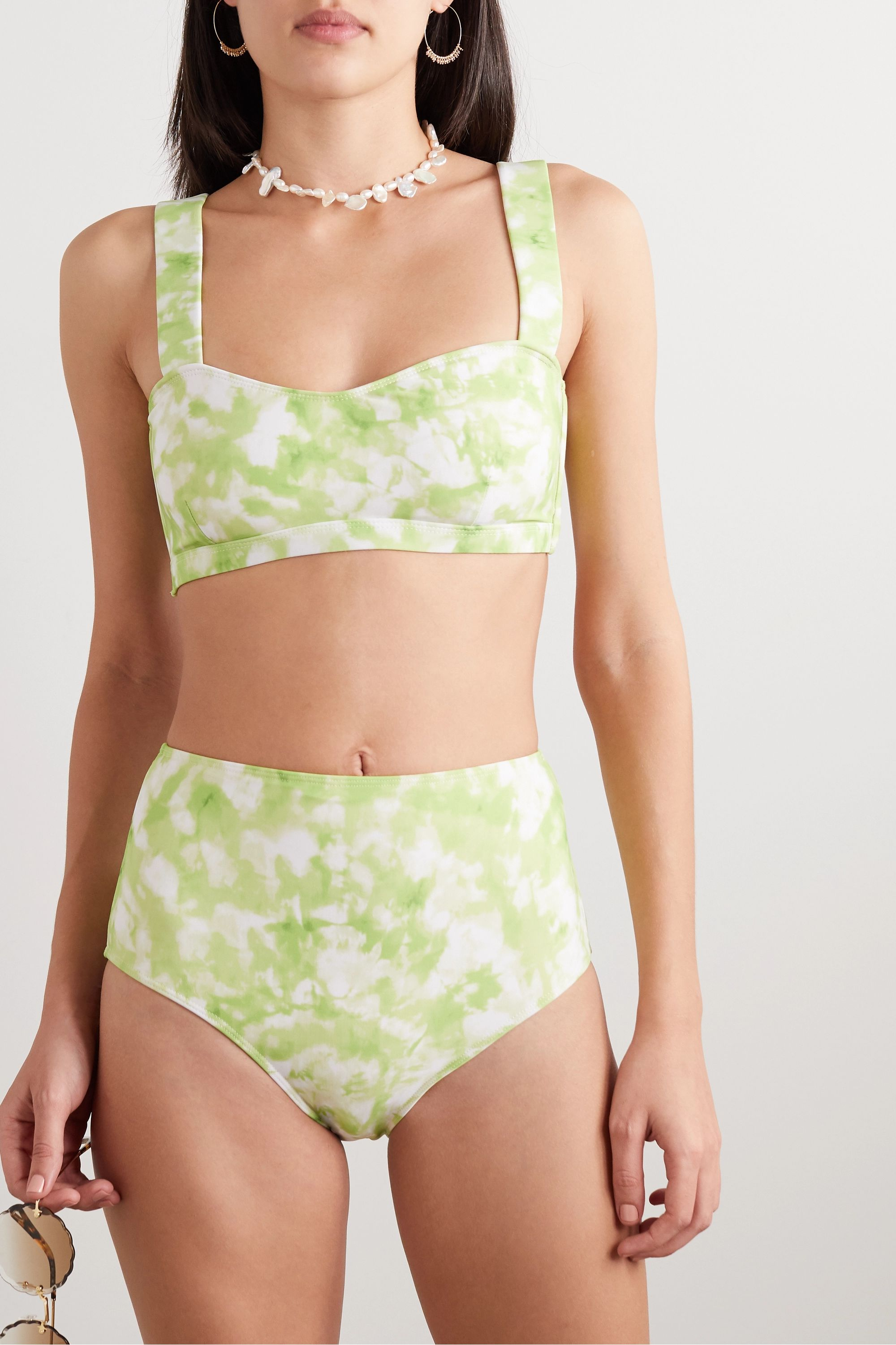 Faithfull The Brand + NET SUSTAIN Provence tie-dyed bikini top