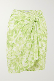 Faithfull The Brand + NET SUSTAIN tie-dyed voile pareo