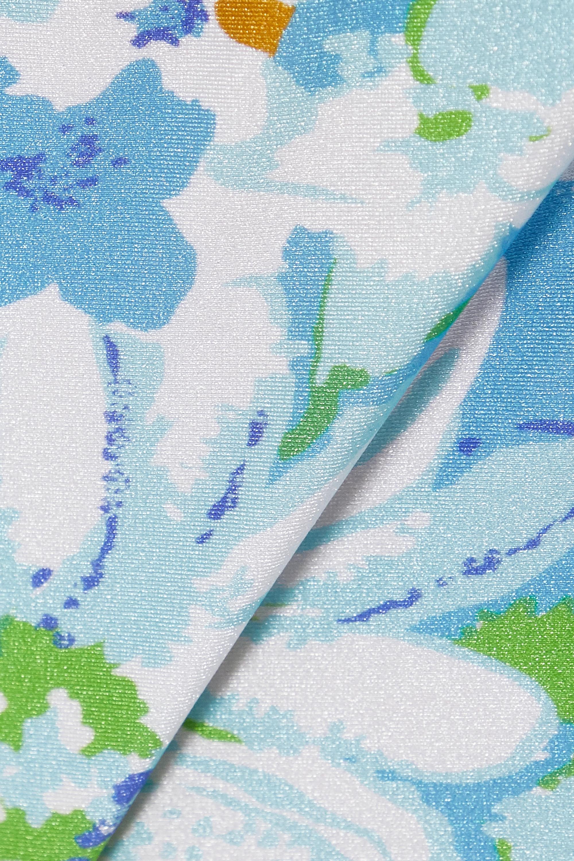 Faithfull The Brand + NET SUSTAIN Lavande belted floral-print bikini briefs