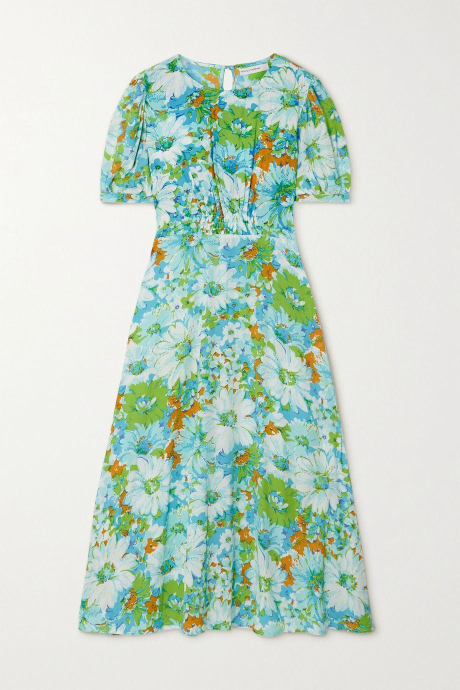 Faithfull The Brand + NET SUSTAIN Beline smocked floral-print crepe midi dress