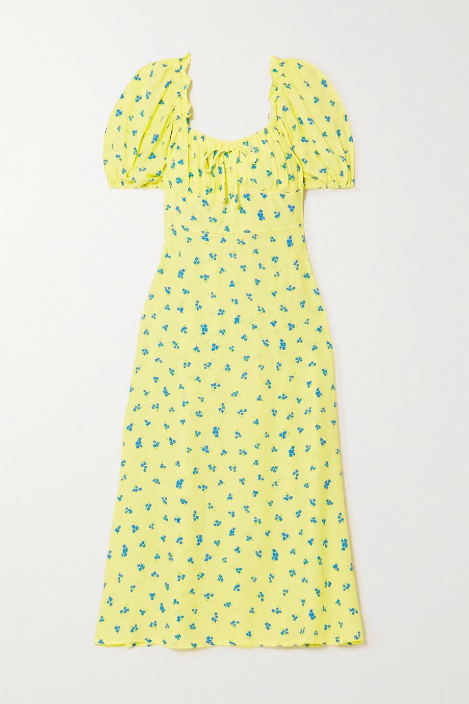 Faithfull The Brand + NET SUSTAIN Bette shirred floral-print crepe midi dress
