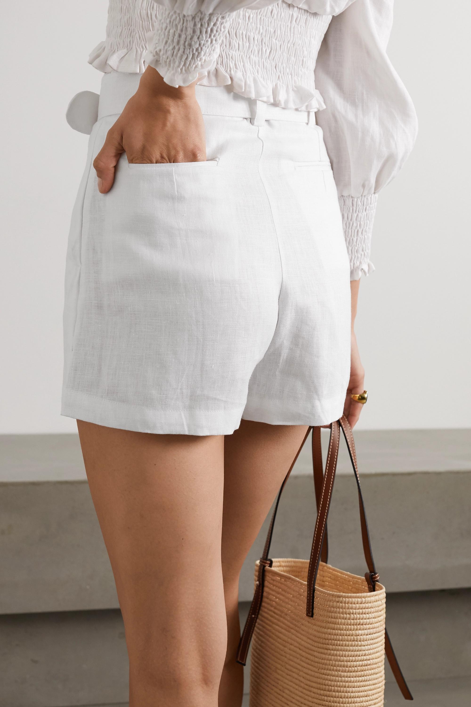 Faithfull The Brand + NET SUSTAIN Celia belted linen shorts