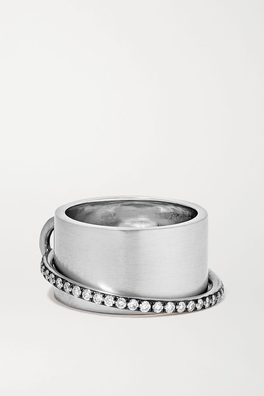 Sylva & Cie Satellite Ring aus 18 Karat Weißgold mit Diamanten