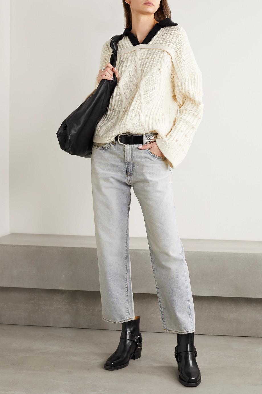R13 Mid-rise boyfriend jeans