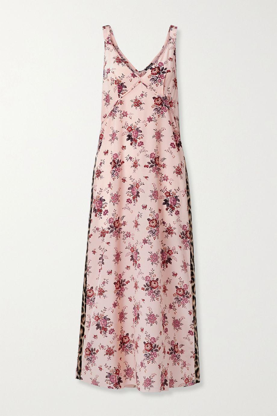 R13 Printed silk midi dress