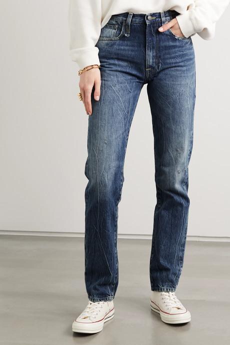 Axl high-rise straight-leg jeans
