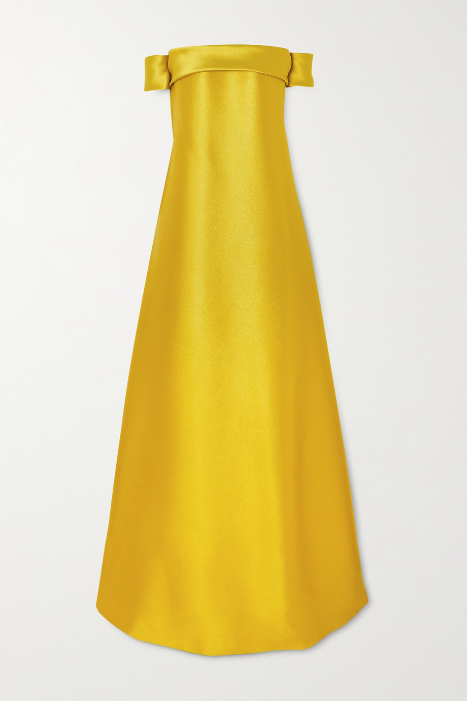 Reem Acra Off-the shoulder bow-detailed mikado gown