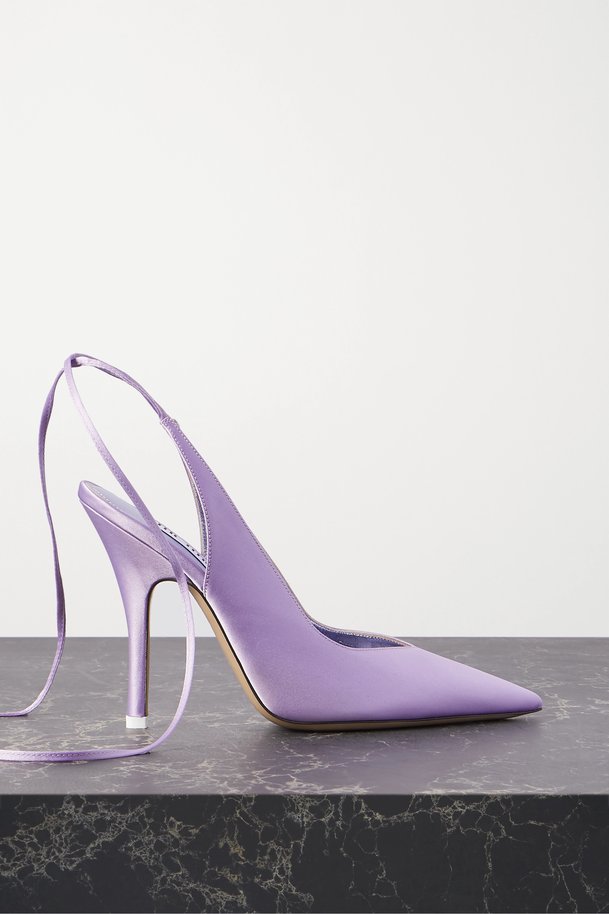 The Attico Venus satin pumps