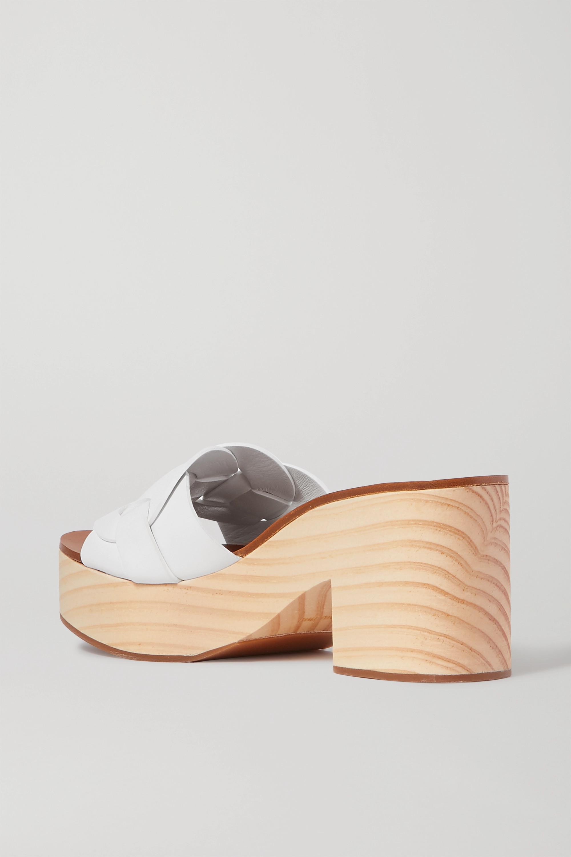 Miu Miu Leather platform mules