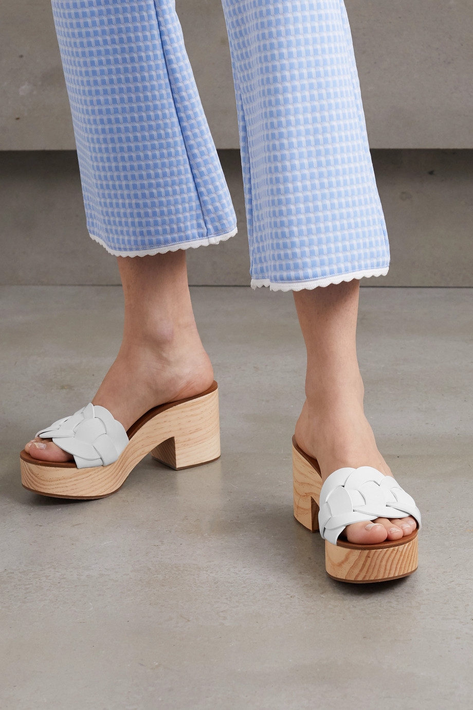 Miu Miu Leather platform mules