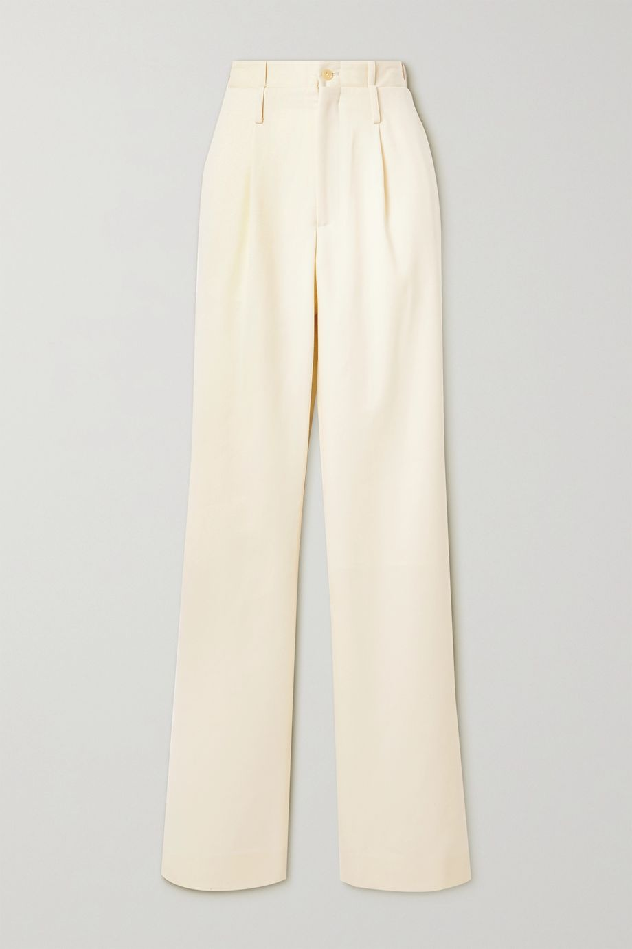 Commission Pleated wool-twill straight-leg pants