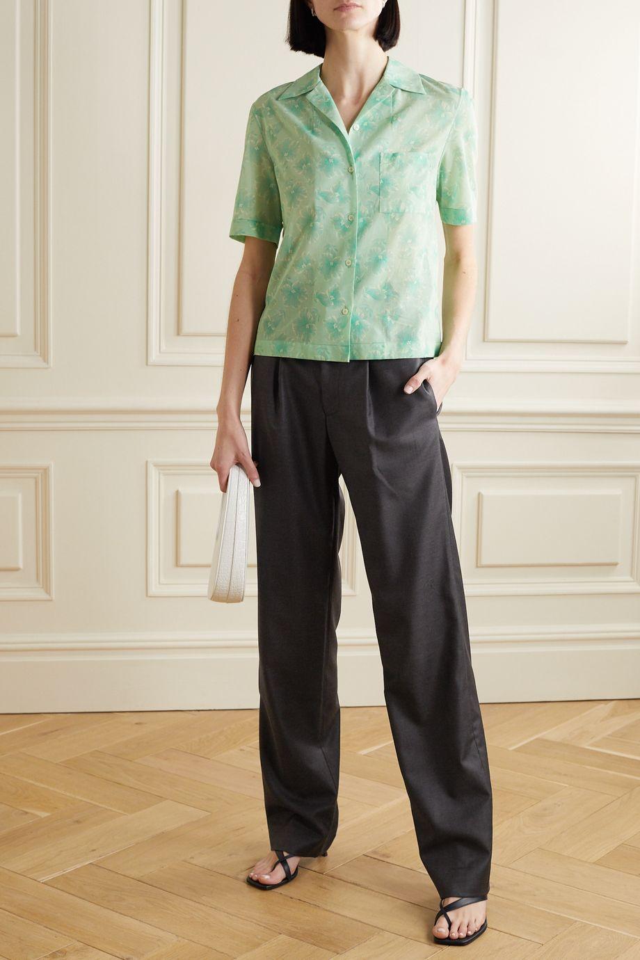 Commission Pantalon droit plissé en laine sergée
