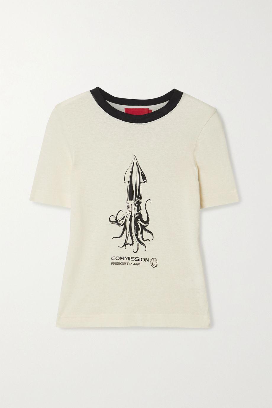 Commission Souvenir printed cotton-terry T-shirt