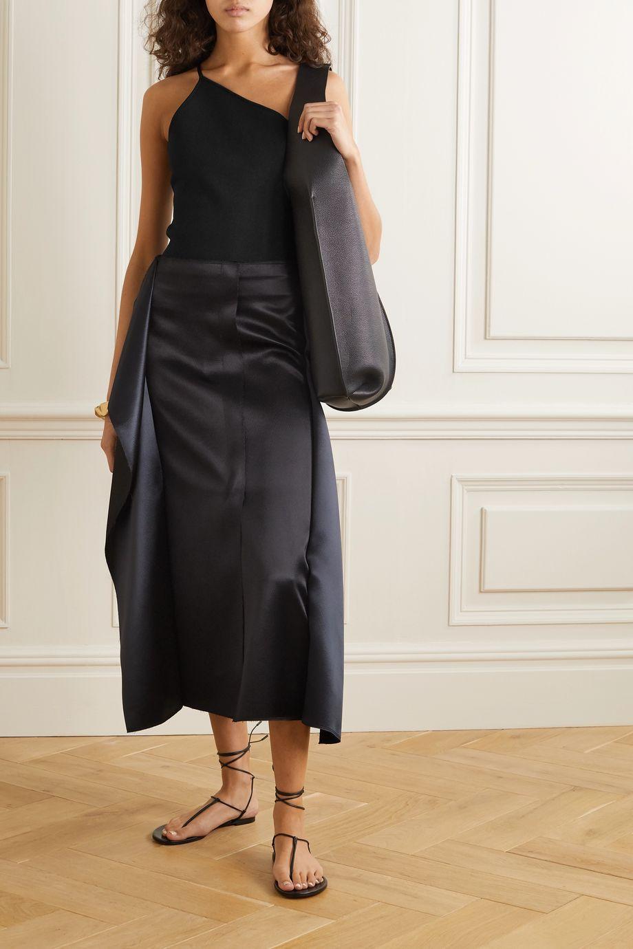 Deveaux One-shoulder stretch-knit top