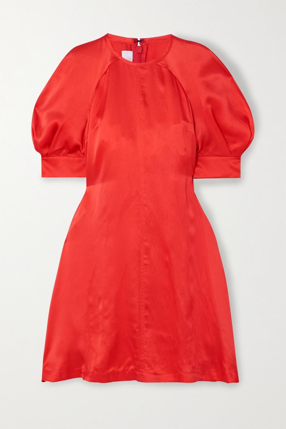 McQ Alexander McQueen Hisano hammered-silk mini dress