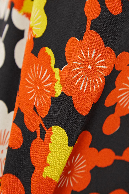 MCQ Floral-print silk-crepe maxi skirt