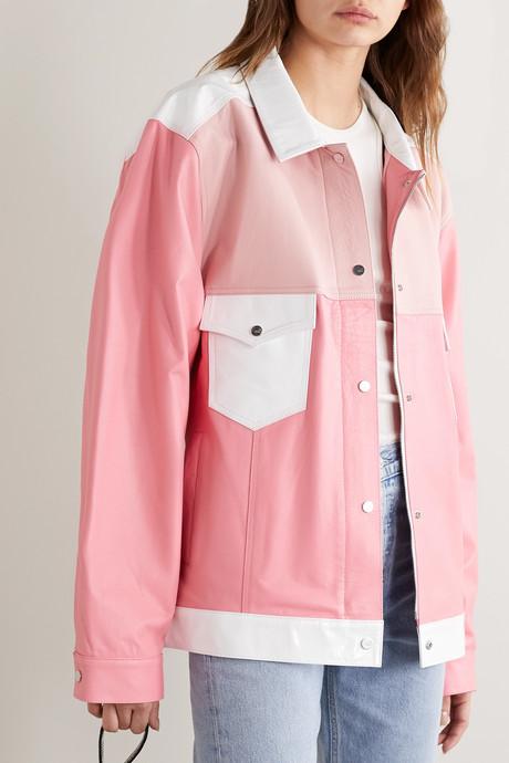 The Beverley paneled leather jacket