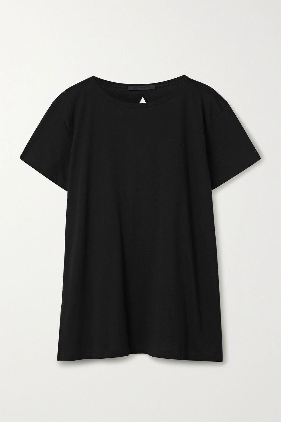 Helmut Lang 露背比马棉质莫代尔混纺 T 恤