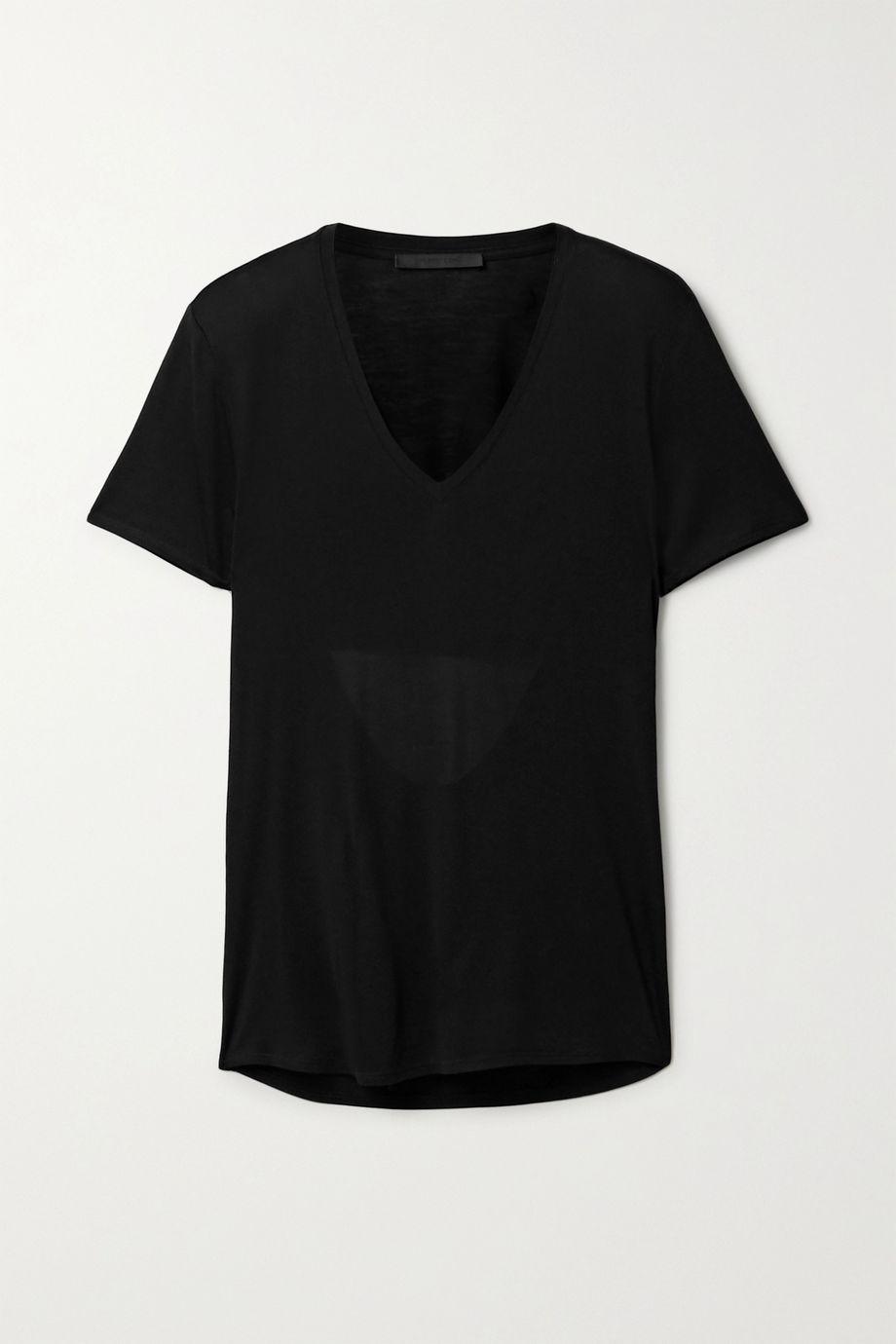Helmut Lang 挖剪莫代尔平纹布 T 恤