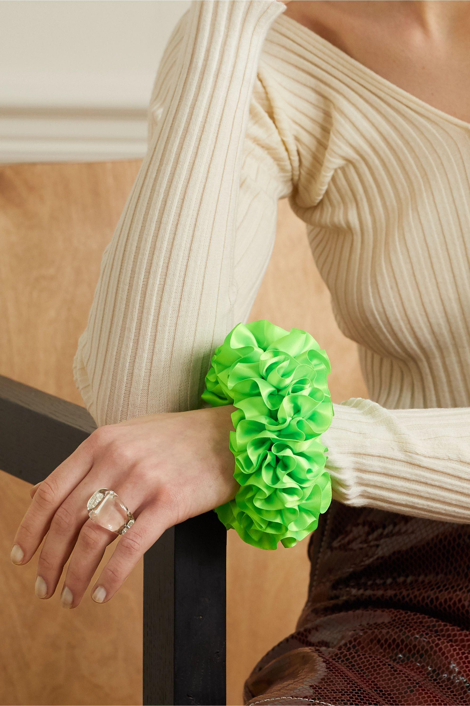 Maryam Nassir Zadeh Carnation silk-satin hair tie