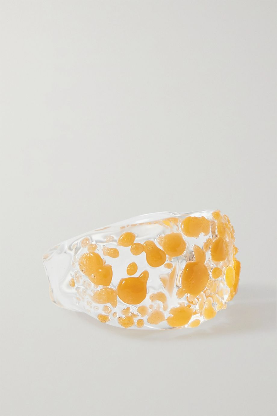 Maryam Nassir Zadeh Wave glass ring