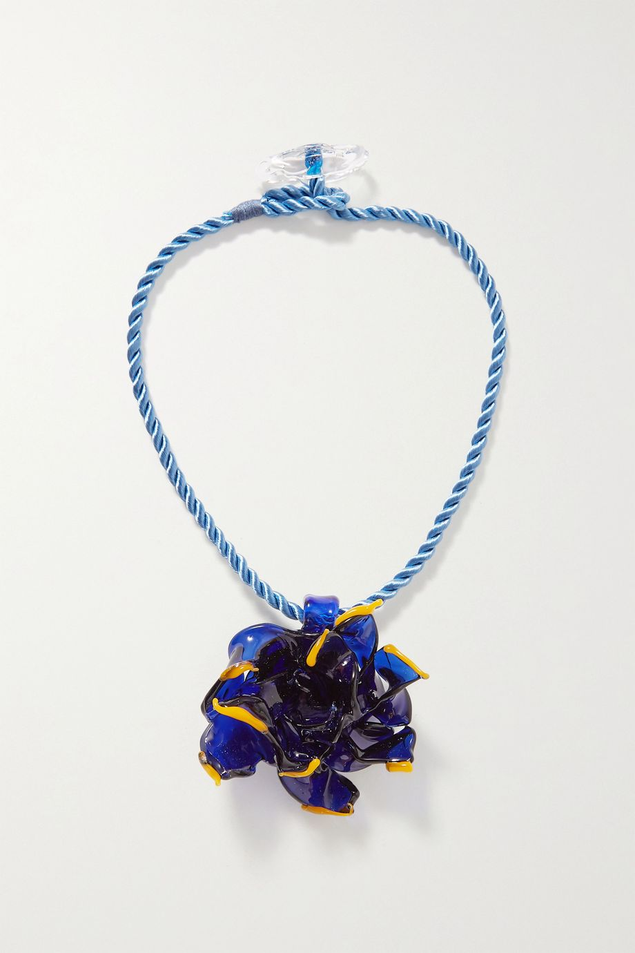Maryam Nassir Zadeh Flower glass and cord necklace
