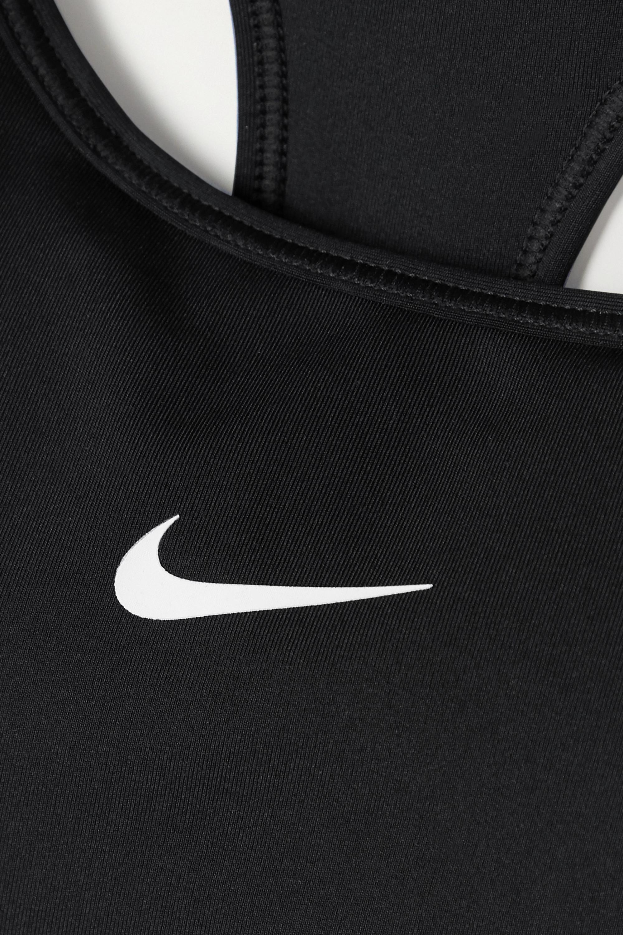Black + Net Sustain Swoosh Dri-fit Sports Bra | Nike