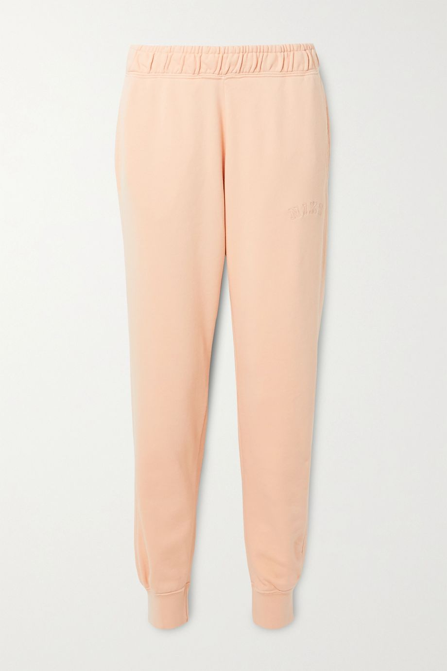 Nike Embroidered French cotton-blend terry track pants