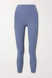 Nike Yoga Luxe lattice-trimmed Dri-FIT leggings
