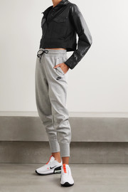 Nike City Ready cropped mesh-trimmed coated-shell and twill jacket