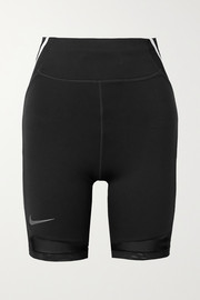 Nike City Ready striped mesh-trimmed Dri-FIT shorts