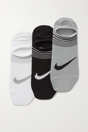 Nike Everyday Training Footie set of three stretch-knit socks