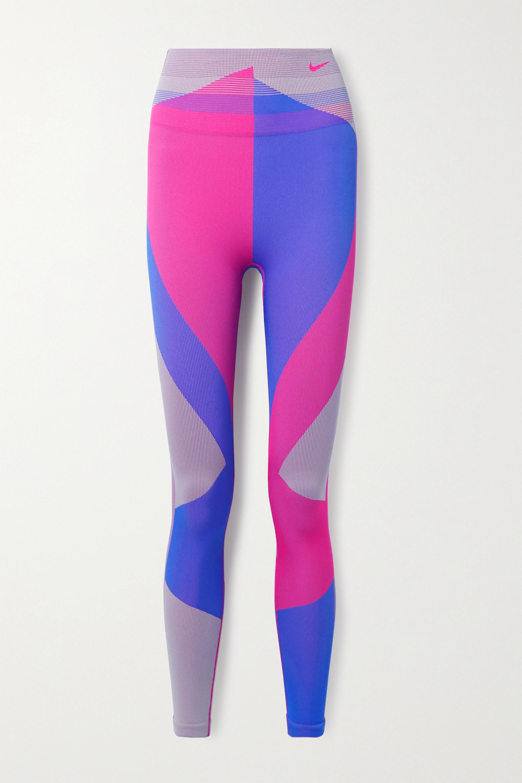 Nike Icon Clash Leggings aus Dri-FIT-Stretch-Strick in Colour-Block-Optik