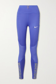 Nike Icon Clash mesh-paneled printed Dri-FIT stretch leggings