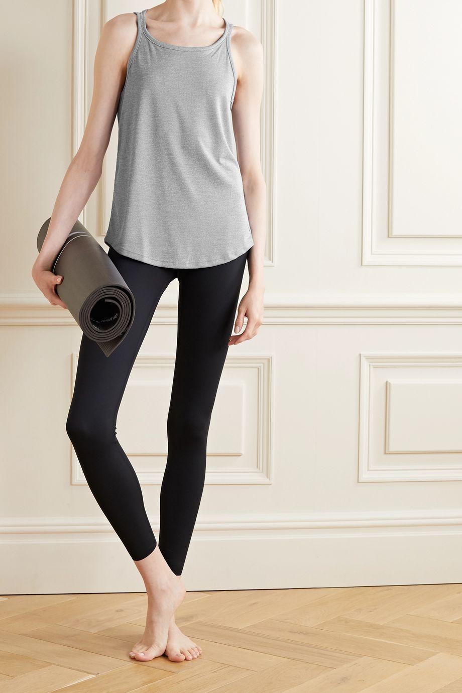 Nike Yoga Strappy striped Dri-FIT tank
