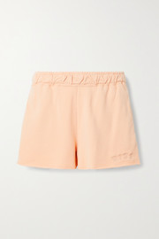 Nike Embroidered French cotton-blend terry shorts