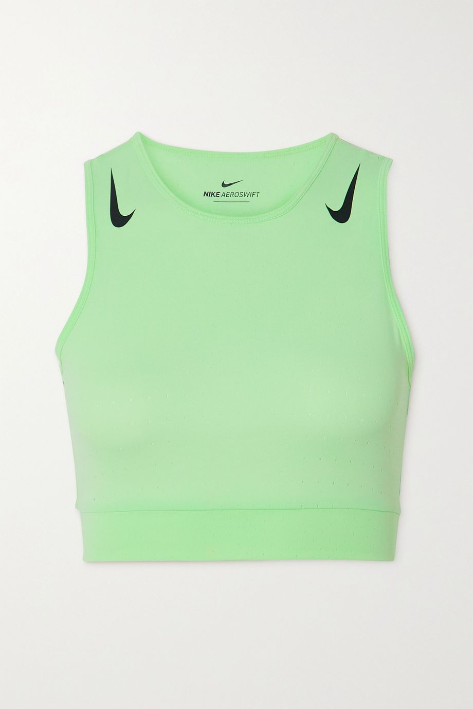 Nike AeroSwift cropped perforated stretch-jersey tank