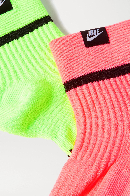 Nike SNKR Set aus zwei Paar Socken aus Stretch-Rippstrick