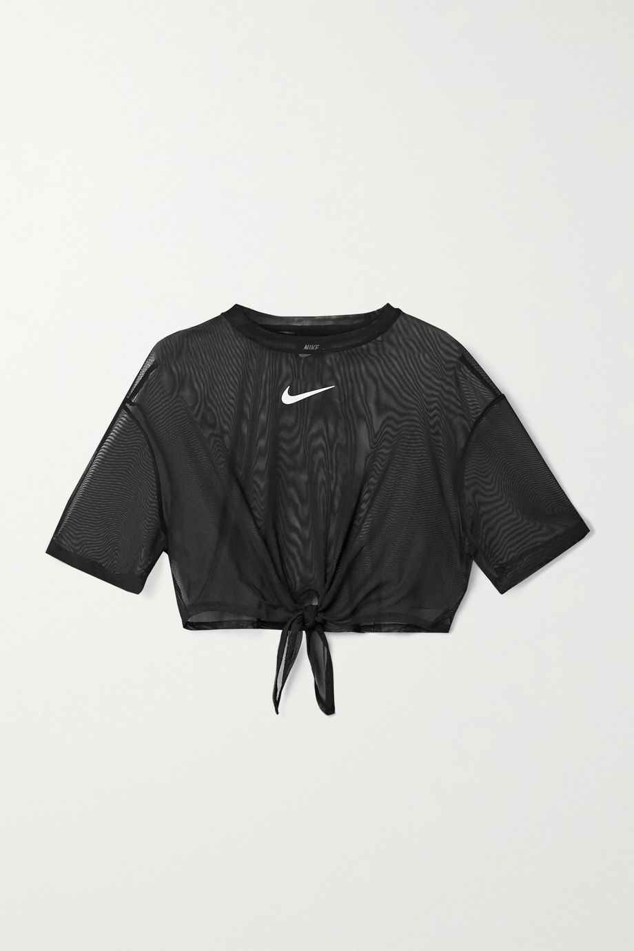 Nike Indio tie-front cropped mesh top