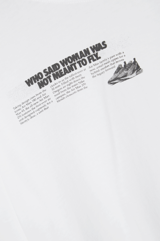 Nike Verkürztes Oberteil aus Baumwoll-Jersey mit Print