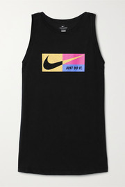 Nike Icon Clash printed Dri-FIT cotton-blend jersey tank