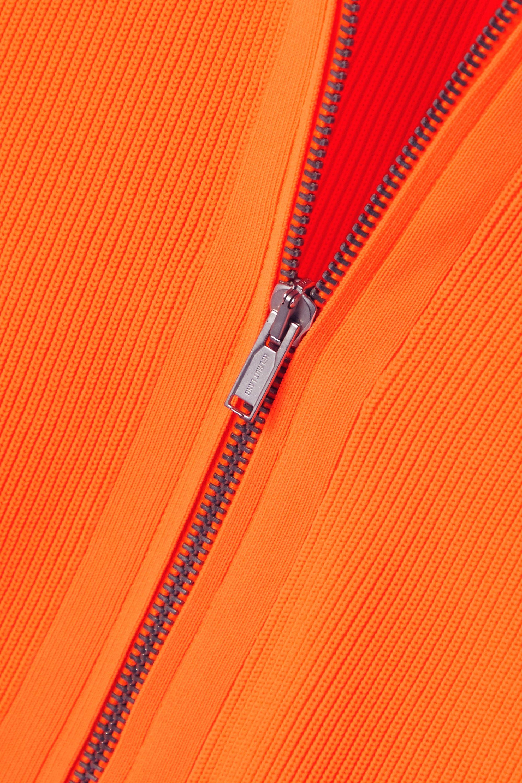 Helmut Lang Neon ribbed-knit cardigan