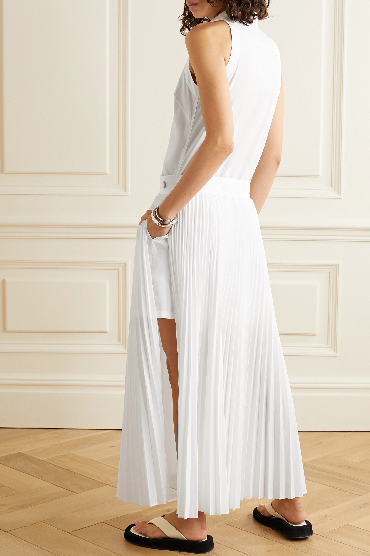 Helmut Lang Pleated poplin shirt dress