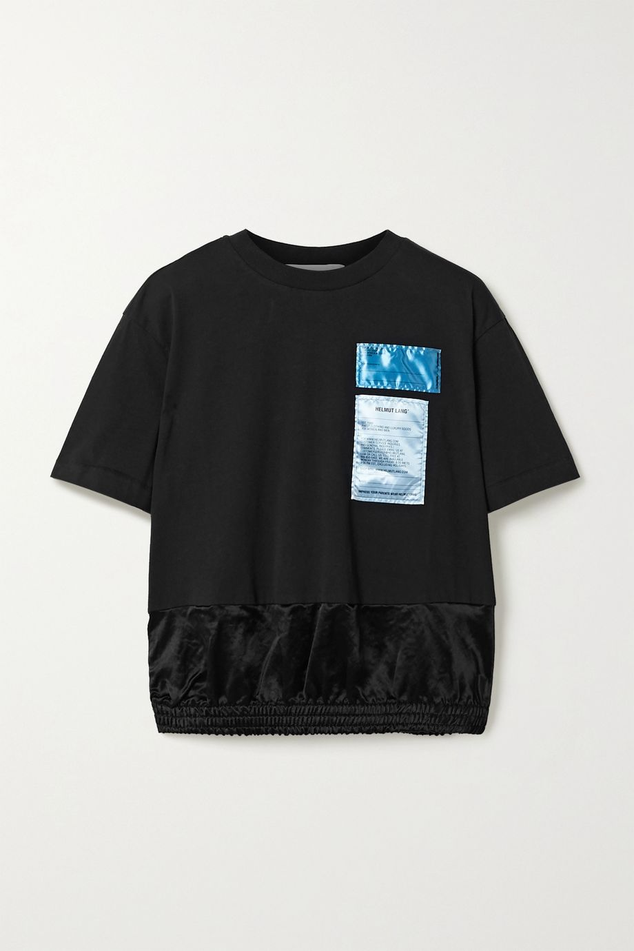 Helmut Lang 贴花纯棉平纹布缎布 T 恤