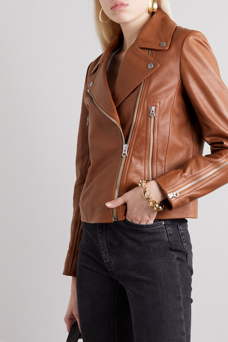Mack leather biker jacket