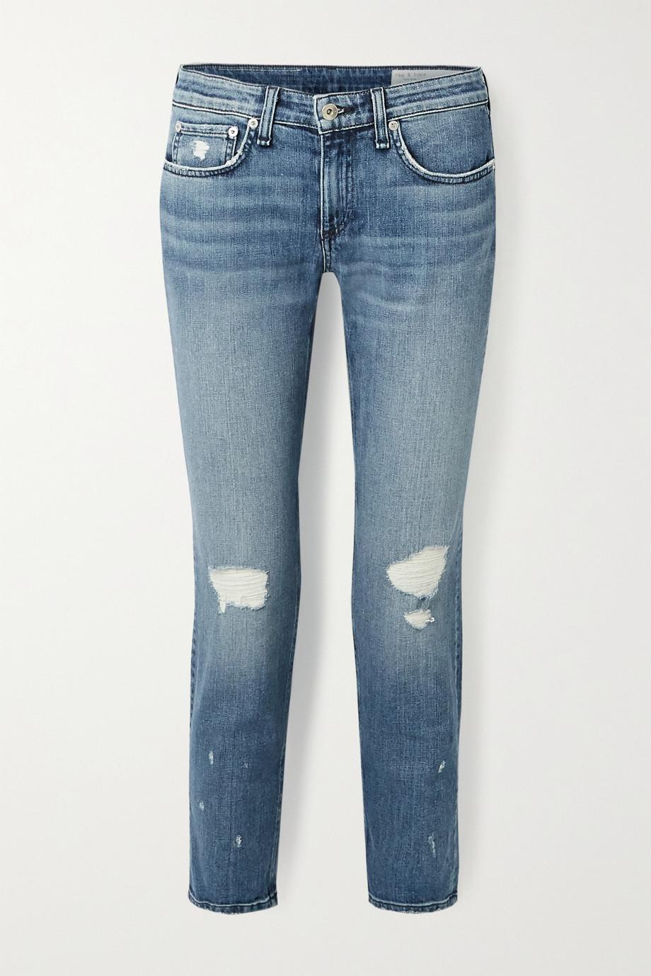 rag & bone Dre cropped low-rise slim boyfriend jeans